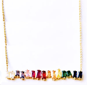 Bauguette Rainbow Bar Necklace