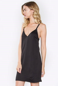 Silky Slip Dress with Tassel Detail