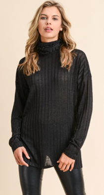 Slinky Open Back Turtle Neck