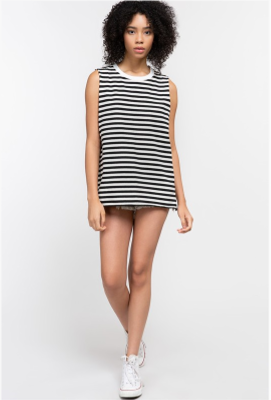 Stripe Cotton Tank