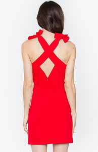 X Cross Bodycon Cocktail Dress