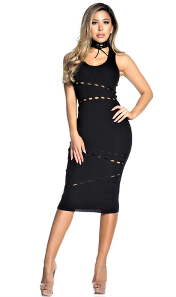Bodycon Dress with Cutout Detail