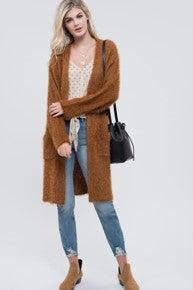 Fuzzy 2 Pocket Cardigan