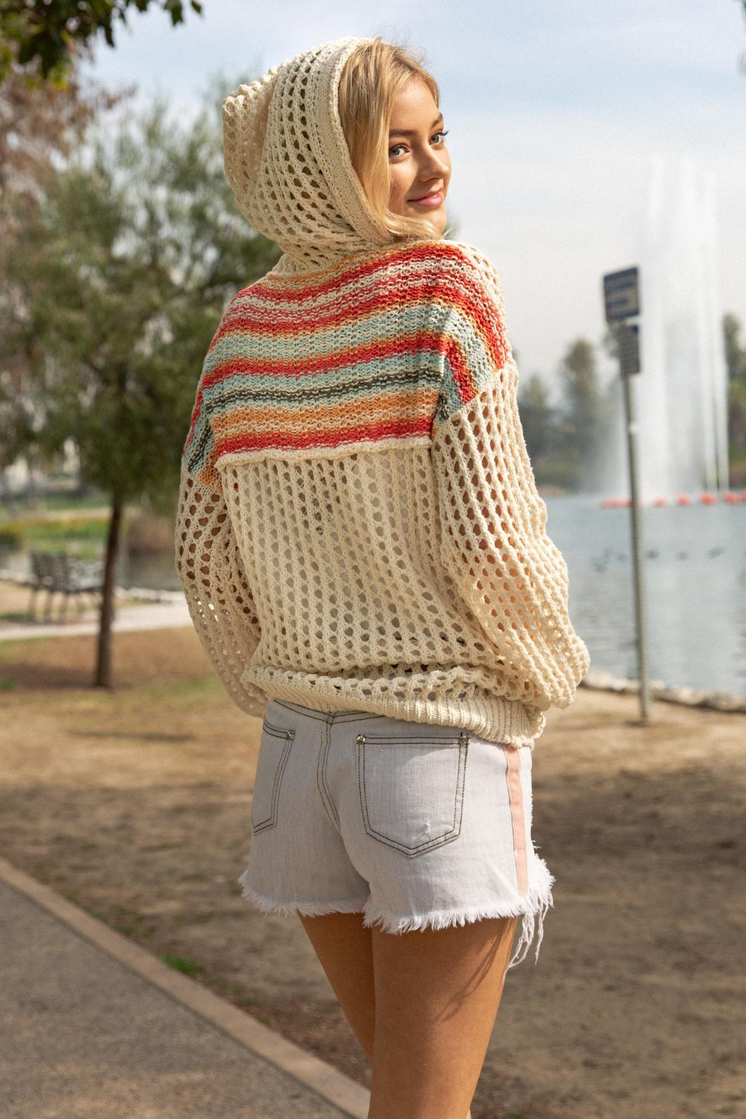Summer Knit Zip Up Hoodie