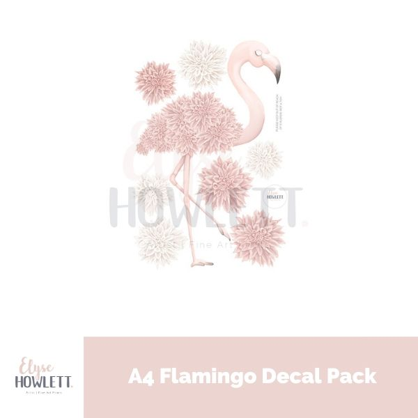A4 Mini - Florence Flamingo Decal Pack