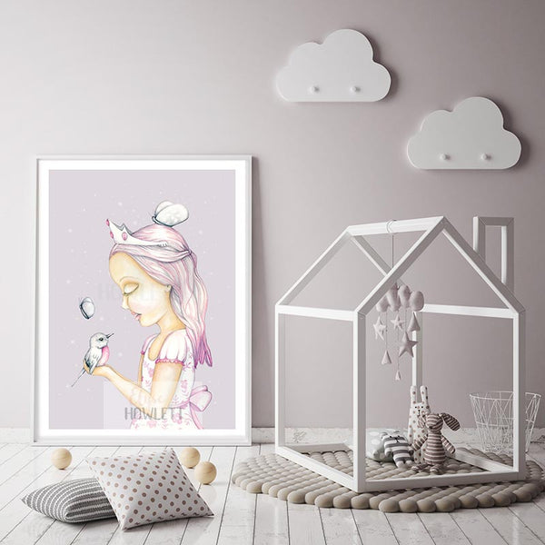 Princess Olivia - Lavender Background