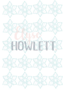 Mini a4 Winter Snowflake Wall Decals - Multiple Colours