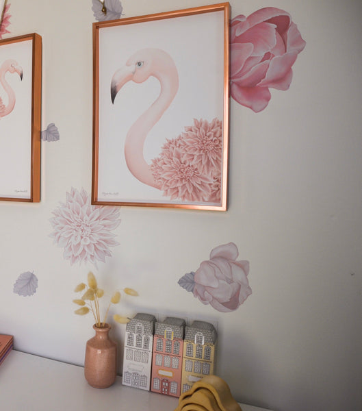 Florence Flamingo Art Print-Portrait
