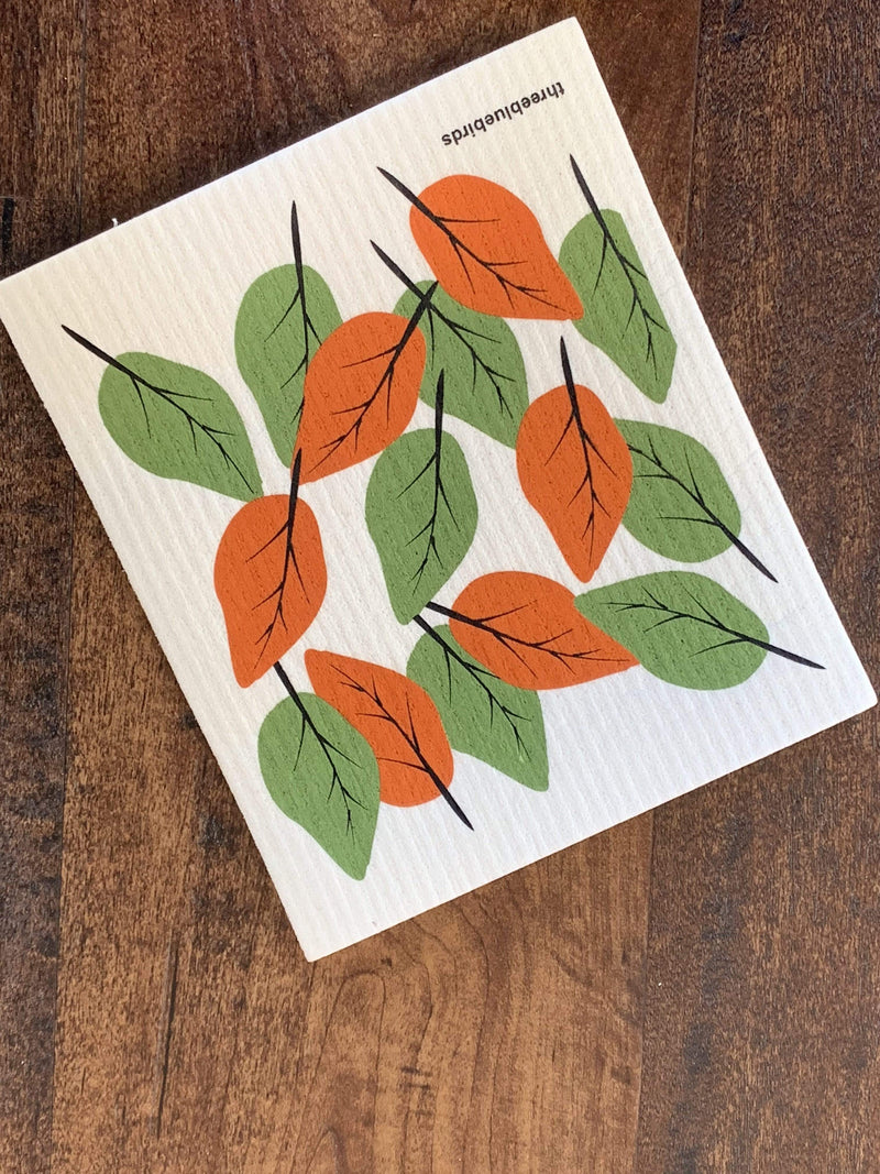 Autumn Leaves Swedish Dishcloth - PORCH