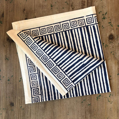 Block Print Napkin - Ribbon Blue - PORCH