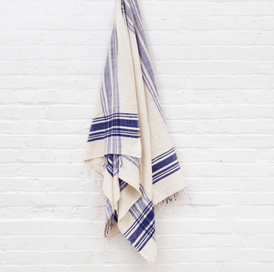 Merlot Cabin Hatch Turkish Bath Towel - PORCH