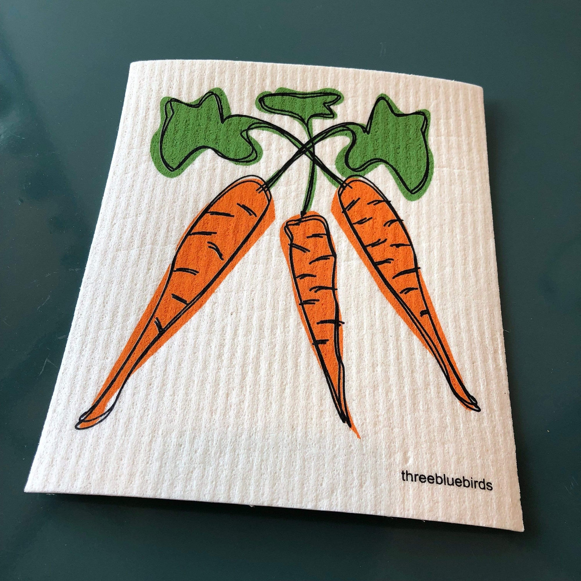 Carrots Swedish Dishcloth - PORCH