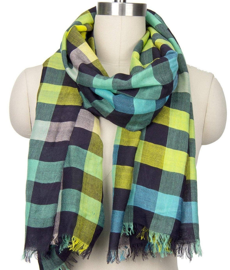 Coney Colored Plaid Scarf - PORCH
