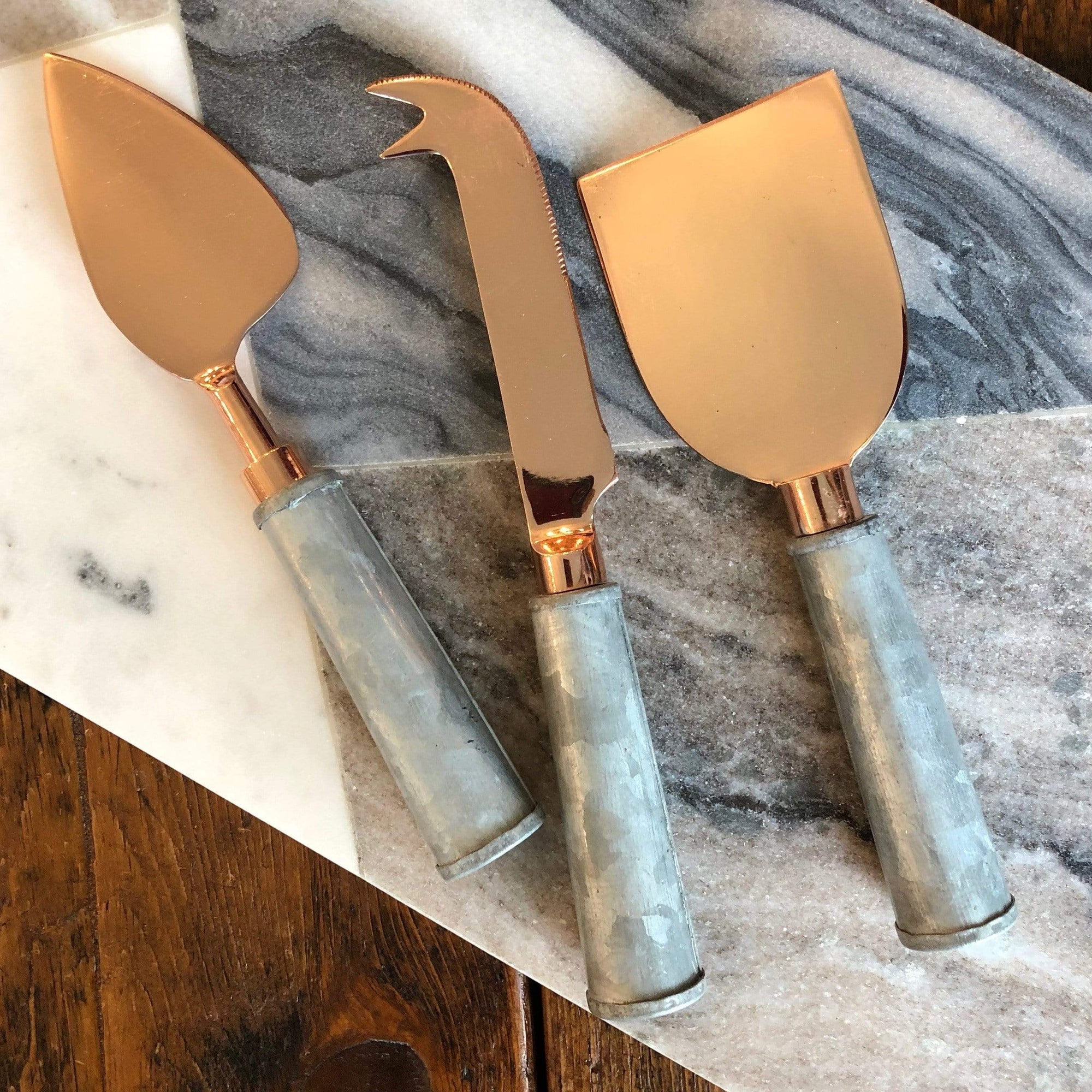 Copper and Galvanized Cheese Set - PORCH