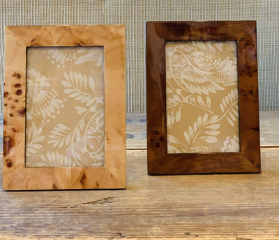 Faux Burled Wood Photo Frame - PORCH