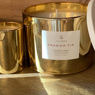 Frasier Fir Gold Candle - PORCH