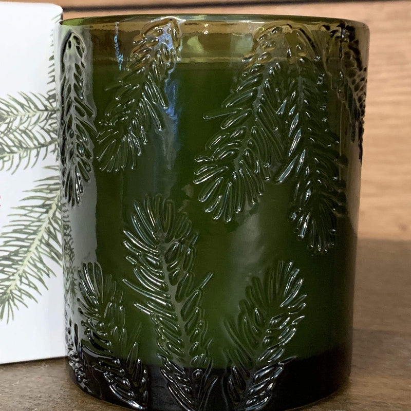 Frasier Fir Molded Green Glass Candle - PORCH