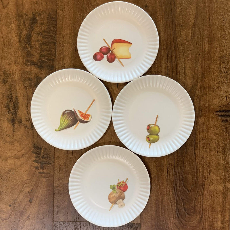 "Hors D'oeuvres ""Paper"" Plates - Set of 4 - PORCH"