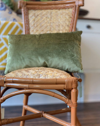 KC Custom Green Velvet Lumbar Pillow - PORCH