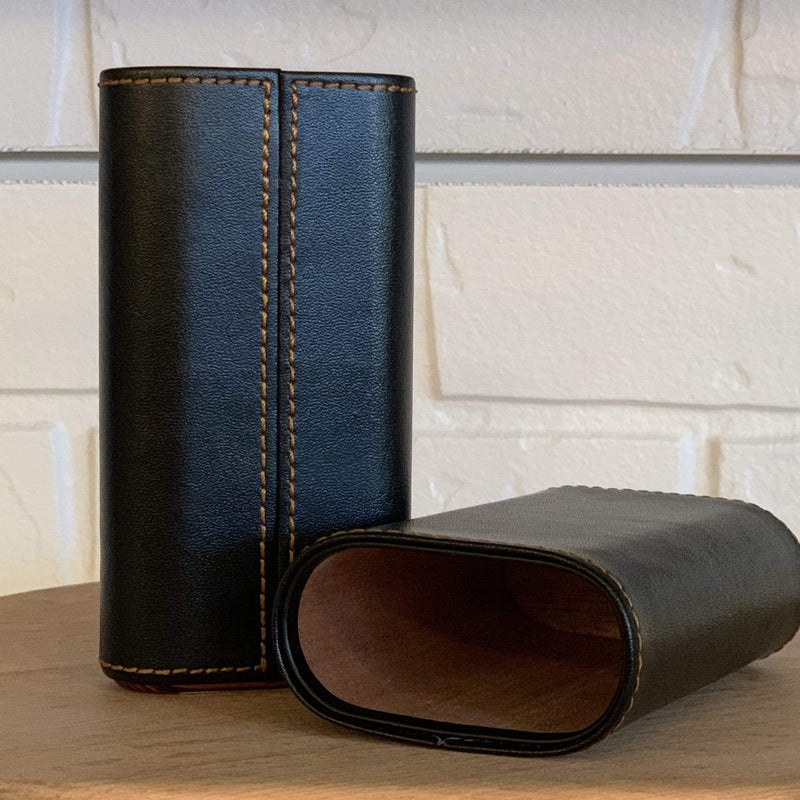 Leather and Ebony Cigar Holder - PORCH