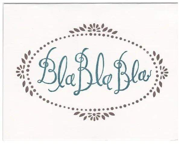 M&E Bla Bla Bla Greeting Card - PORCH