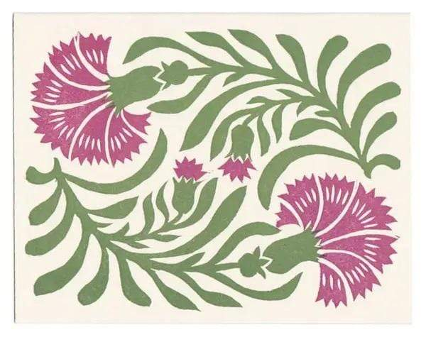 M&E Dianthus Greeting Card - PORCH