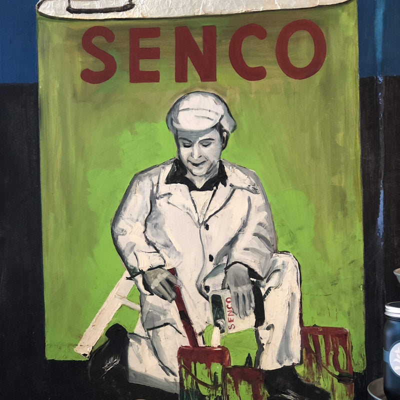 Mid-century Mixed Media Original - Senco Can - PORCH
