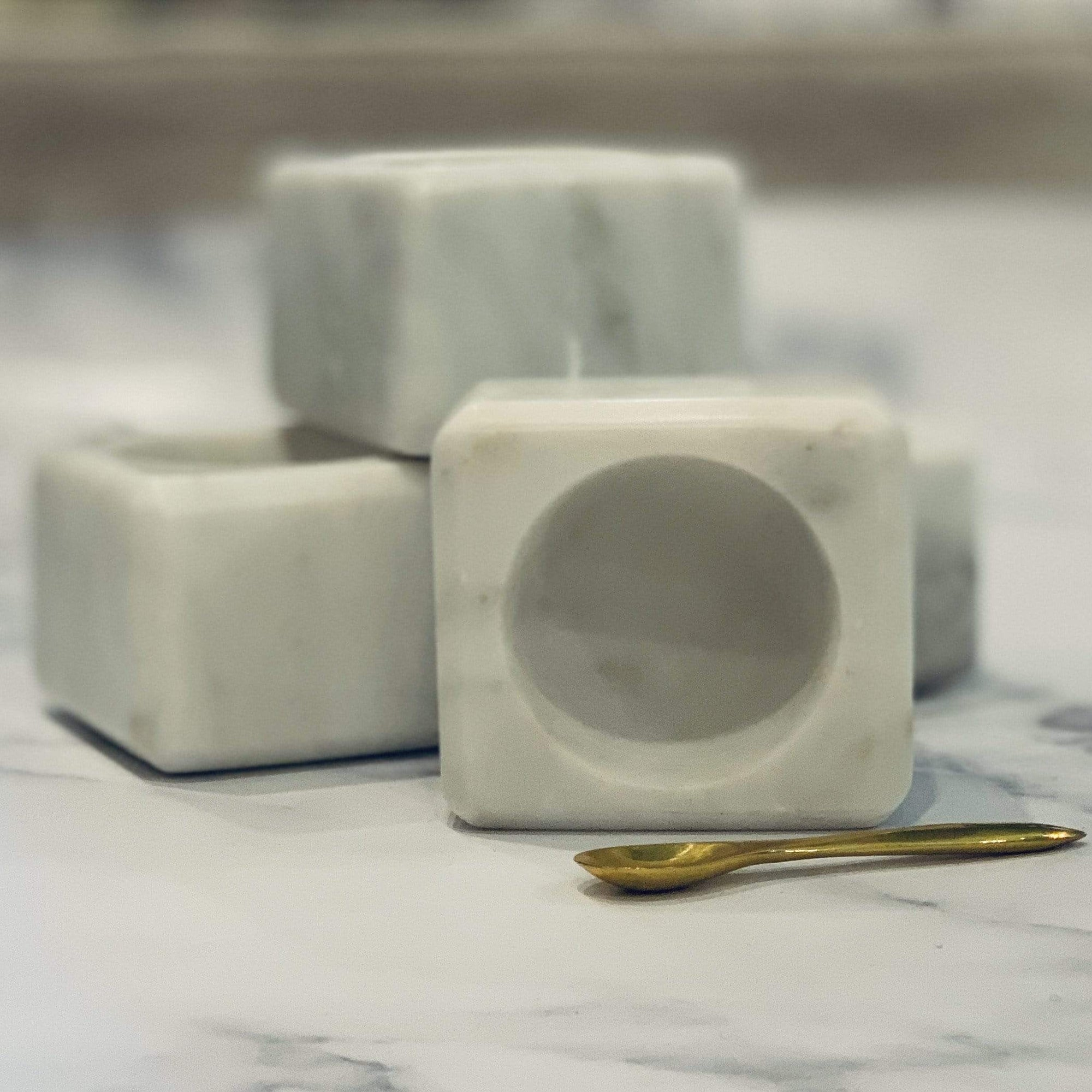 Mini Marble Square Bowl w/ Spoon - PORCH