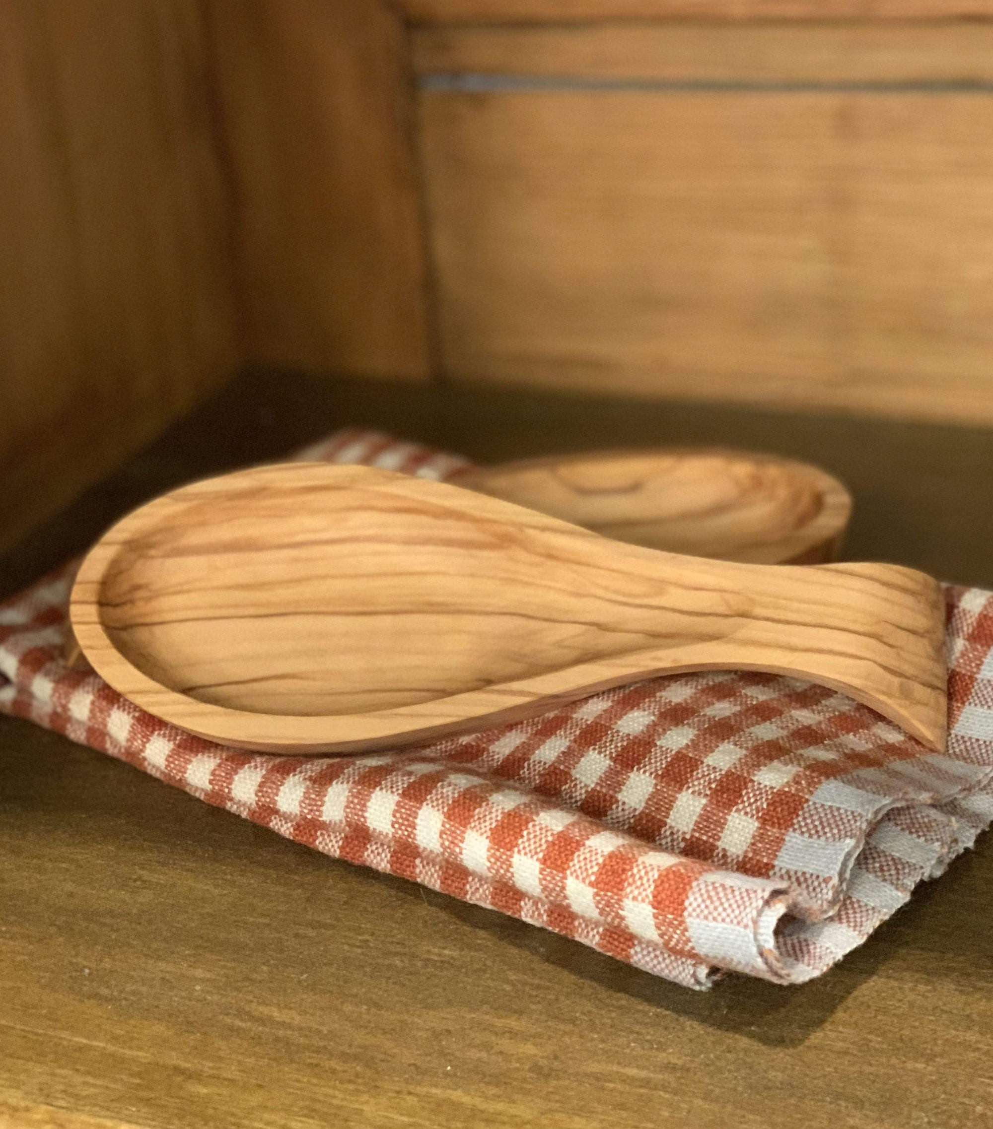 Olive Wood Spoon Rest - PORCH