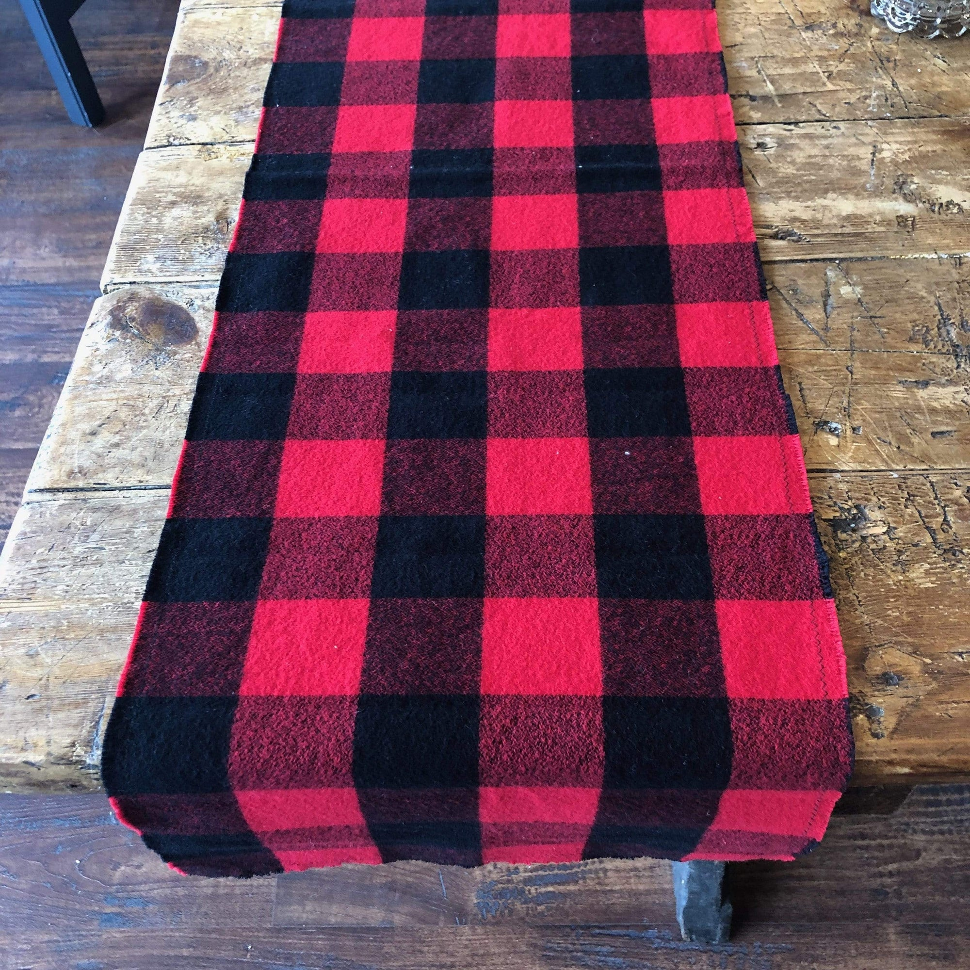 Red and Black Plaid Flannel Table Runner - PORCH