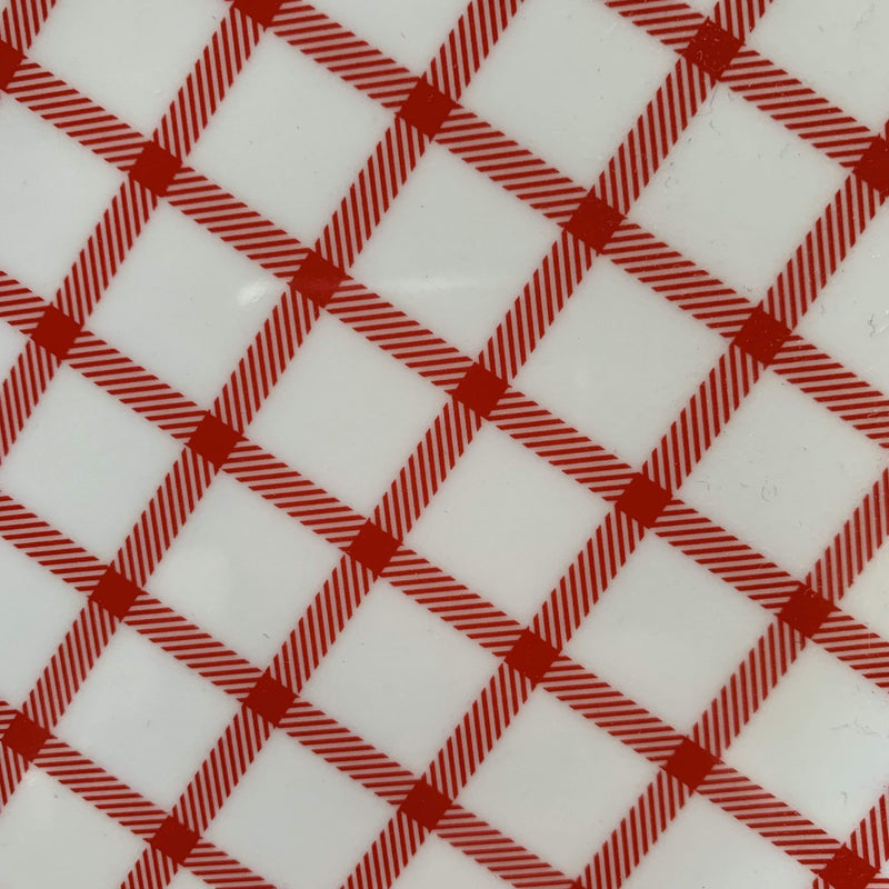 Red Gingham Melamine Tray - PORCH