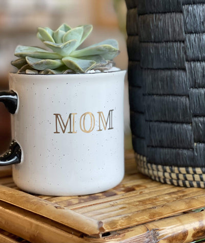 Vintage and Vine Succulent in Mom Coffee Mug - PORCH