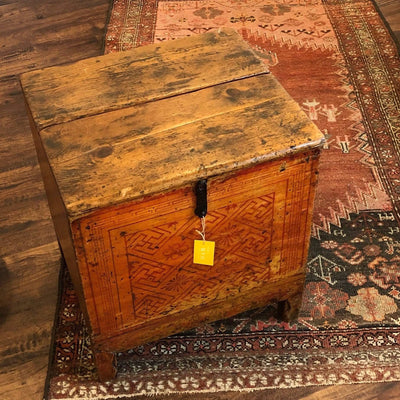 Vintage Painted Storage Side Table/Trunk - PORCH