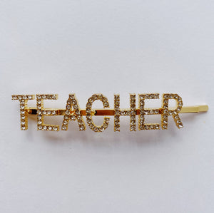 NEW! Educator or Teacher Rhinestones Word Hairpin - 3 Woke Girlz