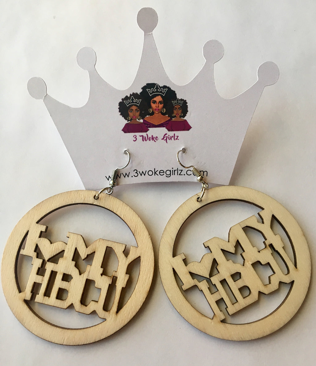I Love My HBCU Earrings - 3 Woke Girlz