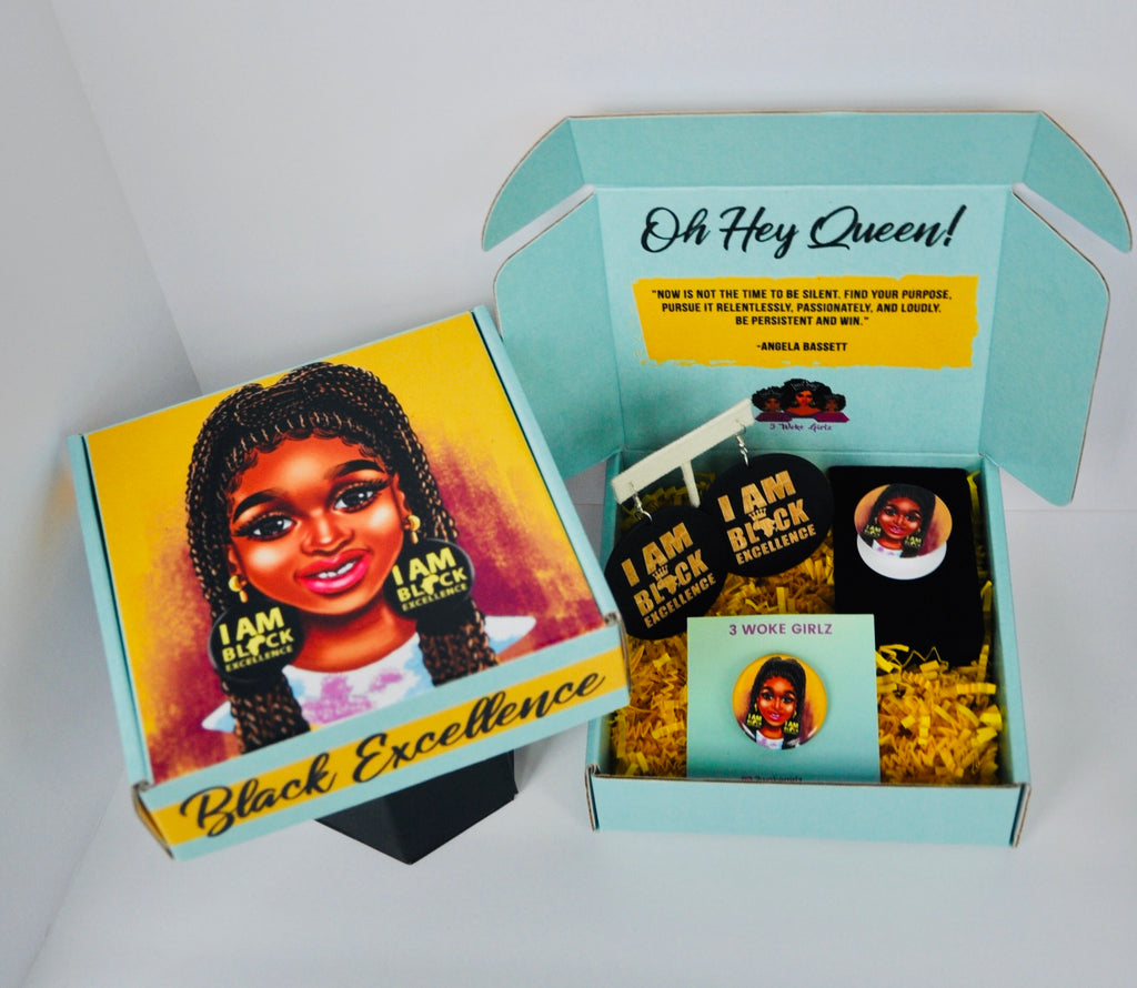 Black Excellence Gift Box - 3 Woke Girlz