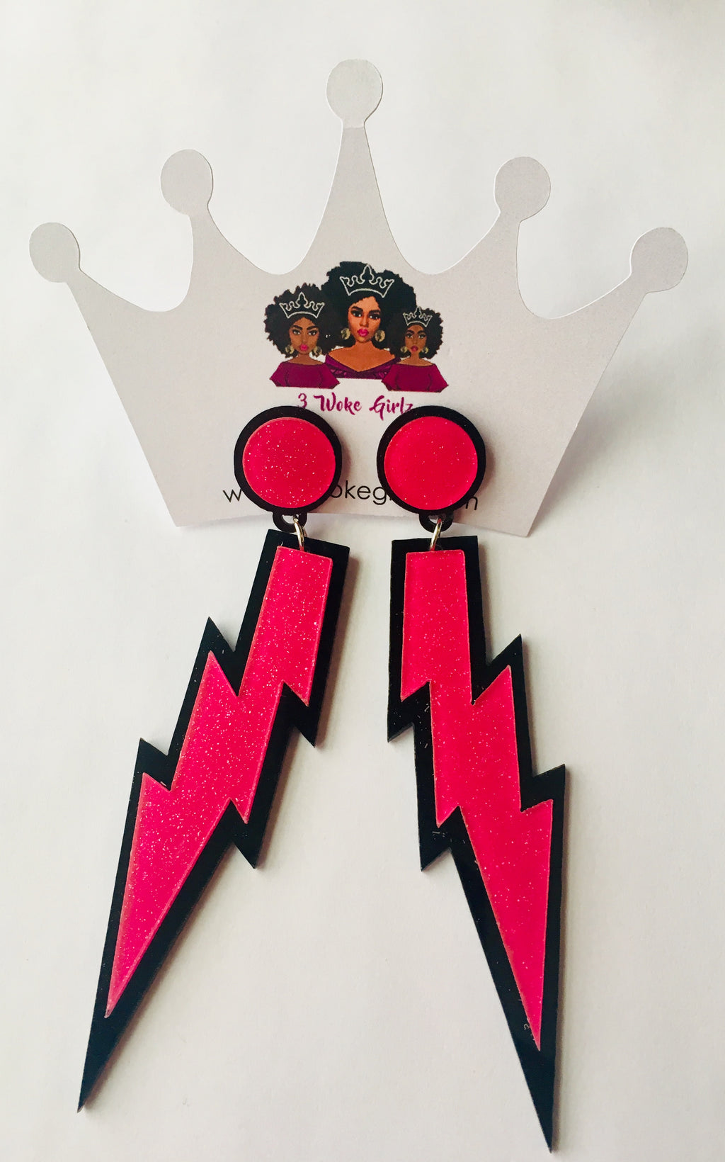 Fun Lightning Bolt Earrings! - 3 Woke Girlz