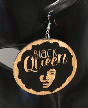 Black Queen Earrings - 3 Woke Girlz