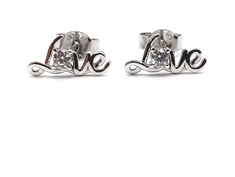 Love Sterling Silver Stud/Minimalist Earrings - 3 Woke Girlz