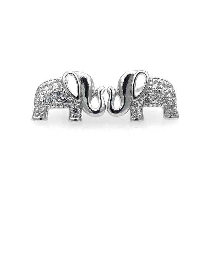 Elephant Sterling Silver Stud/Minimalist Earrings - 3 Woke Girlz