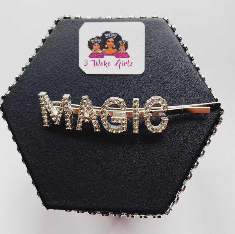 MAGIC Rhinestones Statement Hairpin - 3 Woke Girlz