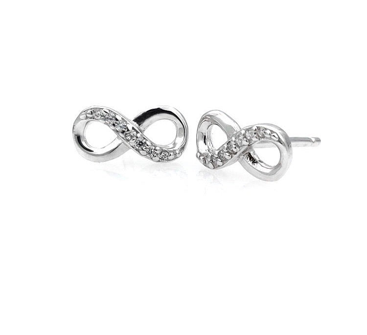 Infinity Sterling Silver Stud/Minimalist Earrings - 3 Woke Girlz