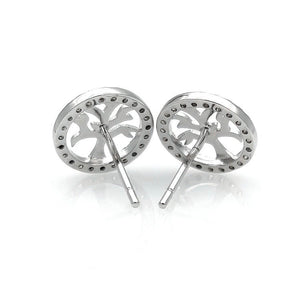 Tree of Life Sterling Silver Stud/Minimalist Earrings - 3 Woke Girlz