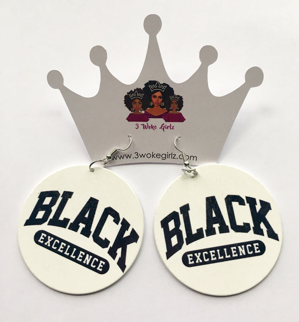 Black Excellence Earrings - 3 Woke Girlz