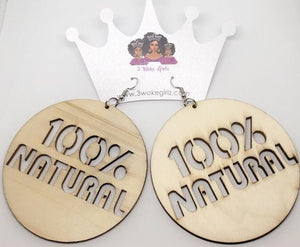 100% Natural Earrings - 3 Woke Girlz