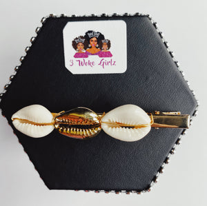 Cowrie Shells Statement Hair Clip - 3 Woke Girlz