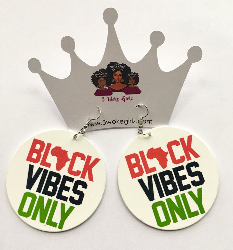 Black Vibes Only Map Earrings - 3 Woke Girlz