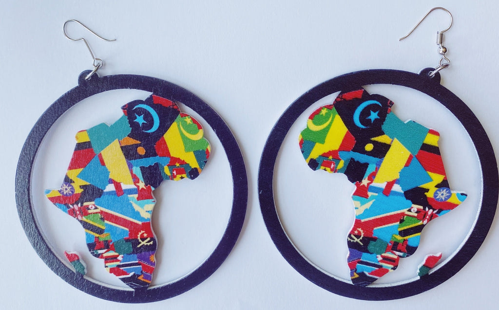 Africa Map Earrings - 3 Woke Girlz