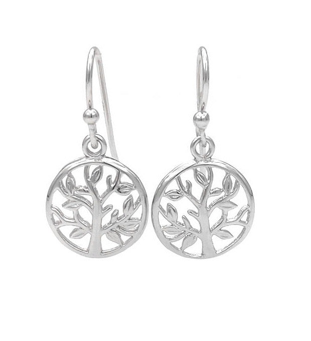Tree of Life Sterling Silver Dainty Drop Earrings - 3 Woke Girlz