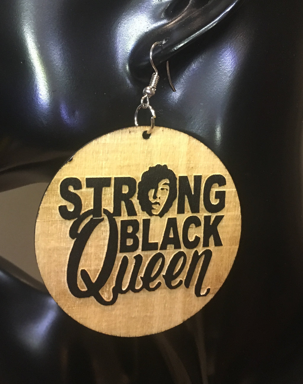 Strong Black Queen Earrings - 3 Woke Girlz